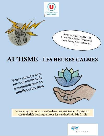 L'IME Amalthée réalise une affiche pour le supermarché U Express en faveur de l'autisme